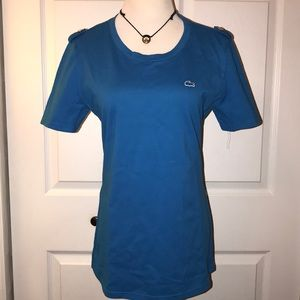 Lacoste crew neck with shoulder buttons